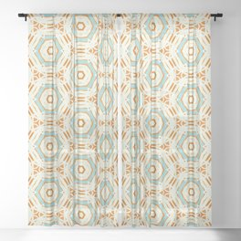 Nayati geo hex modern pattern Sheer Curtain