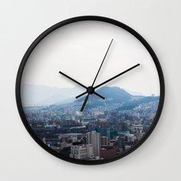 Hiroshima City from Above Wall Clock