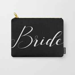 Bride - White on Black Carry-All Pouch
