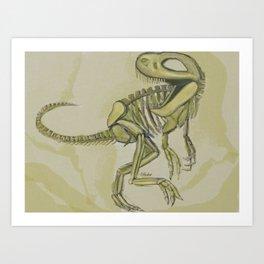 Tyrannoskeleton Art Print