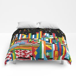 Flagscapes: World Cityscape Comforters