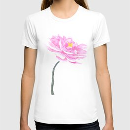 pink peony T-shirt