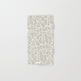 Crackle in Stone and White Hand & Bath Towel