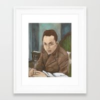 camus Framed Art Prints featuring Albert Camus by Melinda Hagman