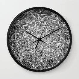 lines and triangles II Wall Clock