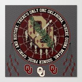 Oklahoma Sooner Dream catcher Canvas Print