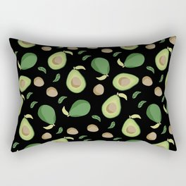 Avocado gen z fashion apparel food fight gifts black Rectangular Pillow