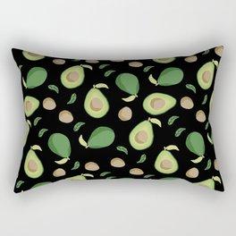 Avocado gen z fashion apparel food fight gifts black Rectangular Pillow