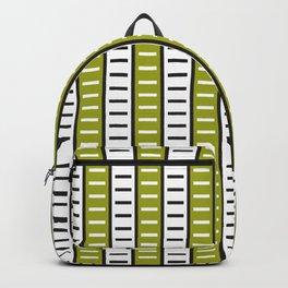 Stripes Pattern 203 (green stripes) Backpack