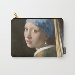 Johannes Vermeer - Girl with the pearl earring (1665) Carry-All Pouch