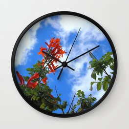 Flowers and Cloud Wall Clock