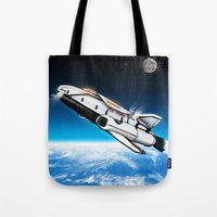 titan Tote Bags featuring S.S. Titan by AndrewDMorgan