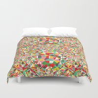 maps Duvet Covers featuring Colour Maps by Candy Joyce