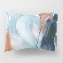 Blue and Copper Feathers Pillow Sham