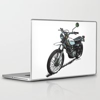 honda Laptop & iPad Skins featuring Honda XL250 Vintage Motorcycle Artwork by Ernie Young