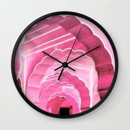 Amber Fort Jaipur Pink Mood Wall Clock