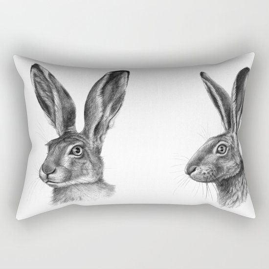 Hare profile G138 Rectangular Pillow