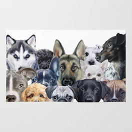 Dog all star, friends original painting print by miart Rug