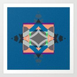 Bold Geometric Color Study Mandala Art Print