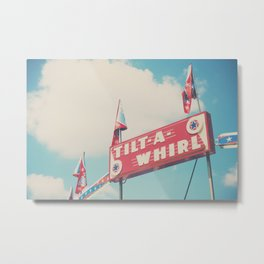 the tilt-a-whirl at the carnival Metal Print