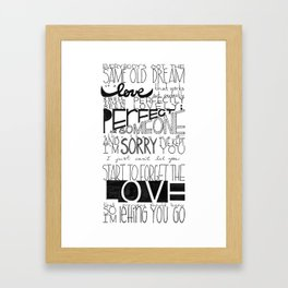 Perfectly Lovely. Framed Art Print