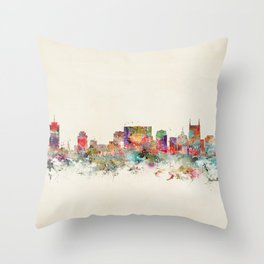 city nashville tennessee Throw Pillow