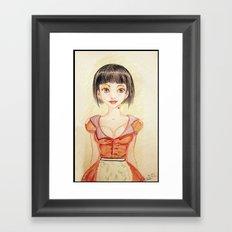 Miss Waitress Pin Up Framed Art Print