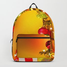 Holiday Christmas Gift Christmas Tree Golden Backpack