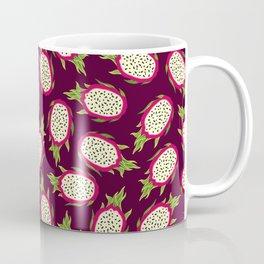 Dragon fruit on burgundy background Coffee Mug