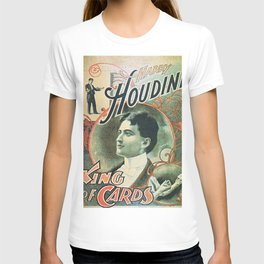 Houdini, king of cards, vintage poster T-shirt