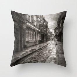 Medieval Shambles York Vintage Throw Pillow