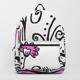 Three Spring Flowers - Pink Backpack