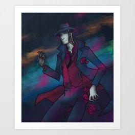 Neon Detective Art Print