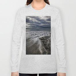 Storm Drama at Swami's Reef, Encinitas, California Long Sleeve T-shirt