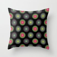 transparent floral patterns 2 Throw Pillow
