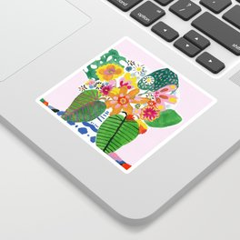 Abstract Flower Bouquet Sticker