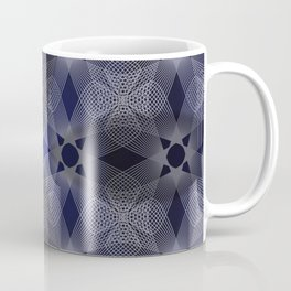 Three Colliding Circles in Black and Blue Coffee Mug