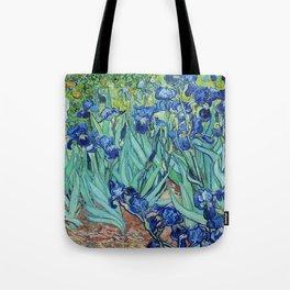 Famous art, Iris by Vincent van Gogh.   Tote Bag