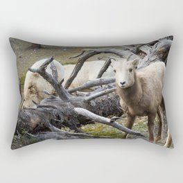 White Goats & A Dead Tree Rectangular Pillow