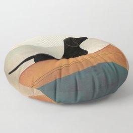 Black Lab Labrador Retriever Dog Canoe Ride Floor Pillow