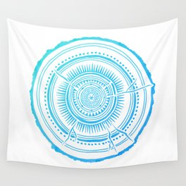 Quaking Aspen – Blue Ombré Tree Rings Wall Tapestry