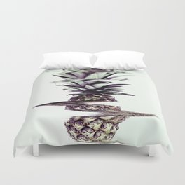 Glitched Pineapple Duvet Cover