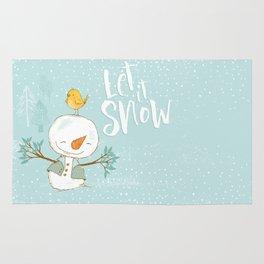 let it snow 4 Rug