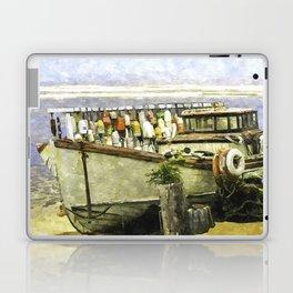Watercolor Of An Old Fishing Ship Laptop & iPad Skin
