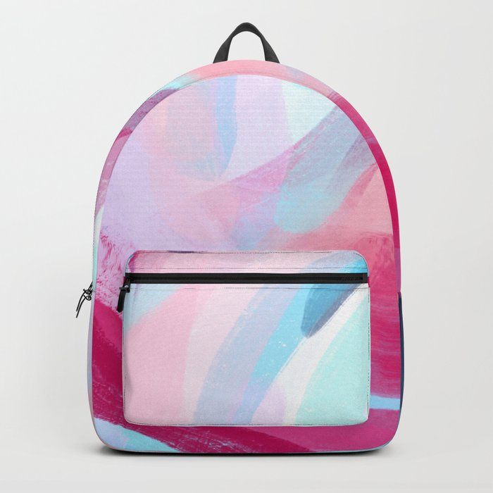 Pastel Abstract Brushstrokes Backpack