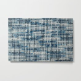 Boucle suiting fabric texture Metal Print