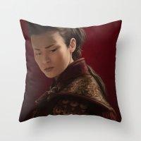 mulan Throw Pillows featuring Mulan by Ravenno