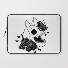 Skull 'n' Roses (ScribbleNetty-Black&White) Laptop Sleeve