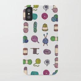 Knitting Balls of Yarn - Watercolor iPhone Case