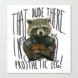 My Rocket Raccoon Canvas Print